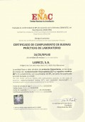 LAINCO obtains the recertification (ENAC) Good Laboratory Practice (GLP)